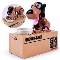 Großhandel Baby Puzzle Elektrische Sounding Hund Spielzeug Schwingen Kreative Essen Geld Sparschwein kinder spielzeug für kinder Neuheit Spielzeug Marke