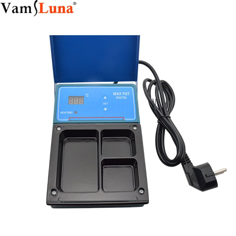 Dentist Dental 3 Well Analog Wax Melting Dipping Pot Heater Melt Machine Lab Equipment with Digital LCD Temperature SettingDentist Dental 3 Well Analog Wax Melting Dipping Pot Heater Melt Machine Lab Equipment with Digital LCD Temperature Setting