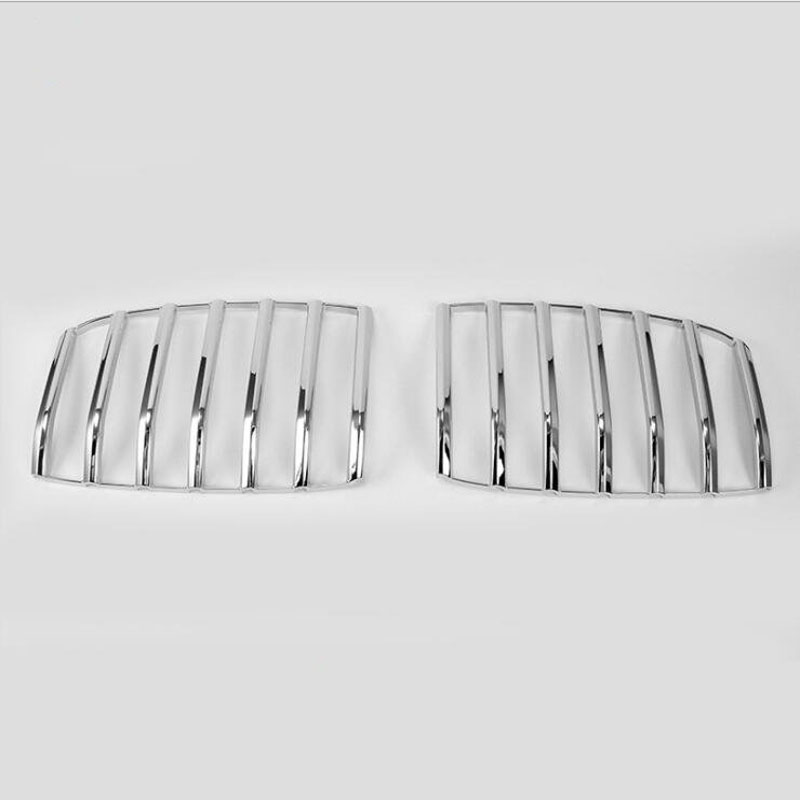 Pour BMW 1 Série 2017 2 pcs Haute Qualité ABS Chrome Avant De la Voiture Grill Grille Couverture Temps Couverture Garniture De Voiture styling Accessoires