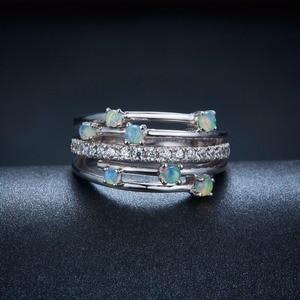 Image 2 - Hutang кольца с натуральным драгоценным камнем и опалом, серебро 925 пробы, обручальное кольцо , хорошее ювелирное изделие, элегантный дизайн для женщин, подарок, новое поступление