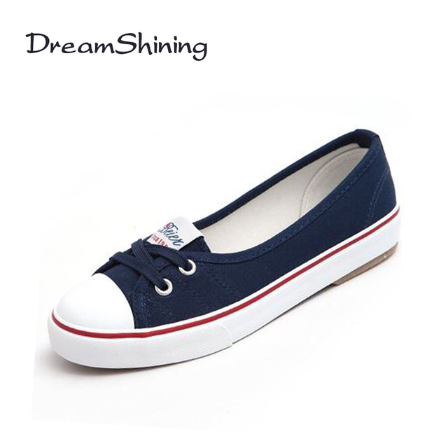 DreamShining  Summer Shallow Mouth Woman Flats Shoes Comfortable Causal Slip On Canvas Women Shoes Female Flats Candy Colors