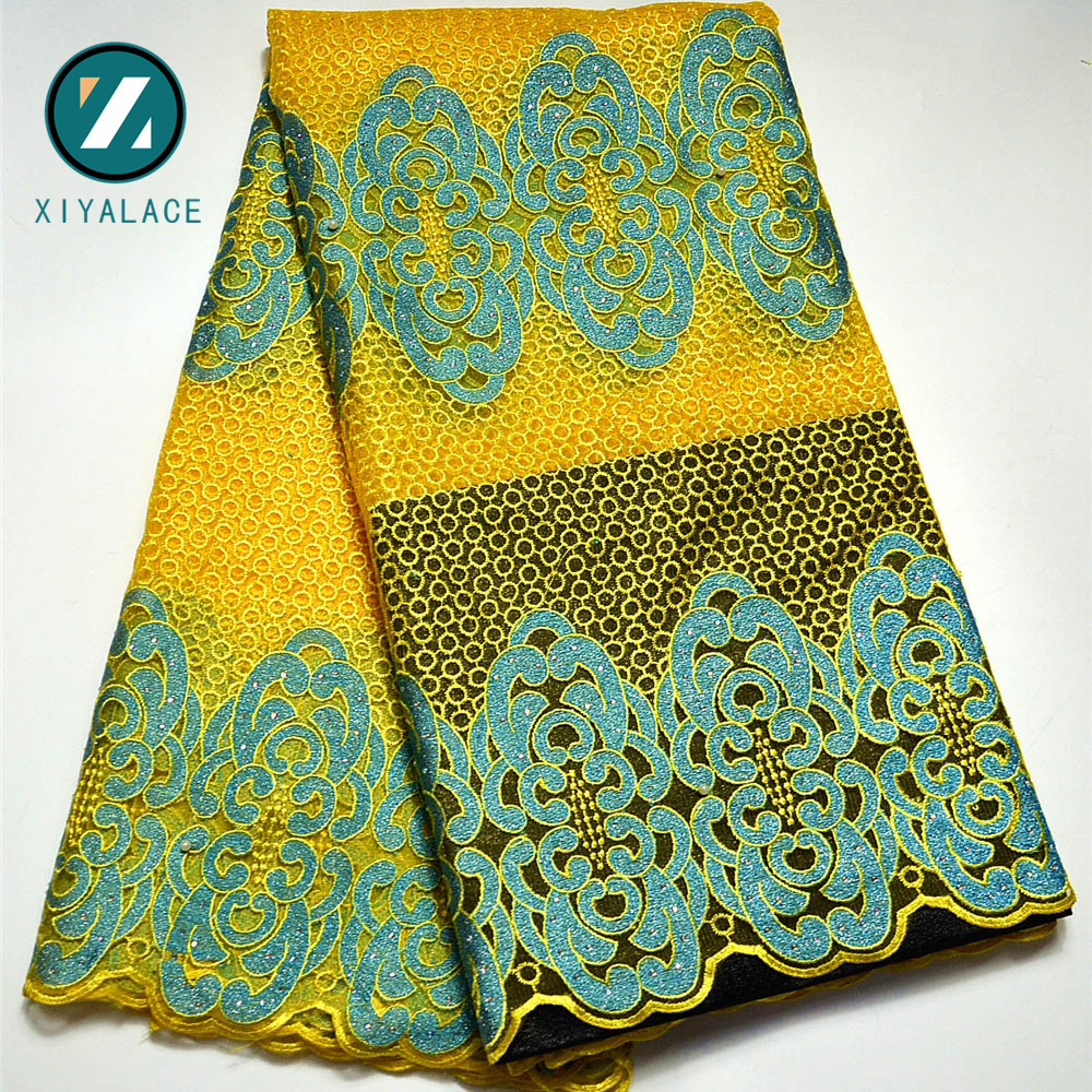 Latest Net French Lace Material High Quality French Net African Lace Fabric With Stone Nigerian Wedding African Lace PGC166B 4-in Lace from Home & Garden    2