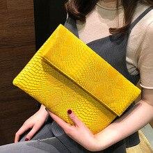 Dobrável envelope saco 2020 novo saco de embreagem feminino europeu e americano tendência cobra padrão mão selvagem festa saco ombro f47