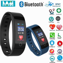 Smart Band QS80 Blood Pressure Heart Rate Fitness Tracker Sm