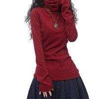 Лидер продаж Зимний пуловер Для женщин кашемировый свитер теплый Пуловеры для женщин Мода 2017 г. одежда водолазка Свитеры для женщин Бесплатная доставка