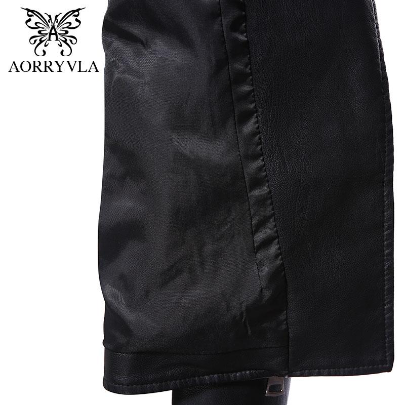AORRYVLA Brand Faux Leather Jacket For Women Autumn 2019 Black Short Full Sleeve Zippers Bike Ladies Basic Jackets Hot Sale