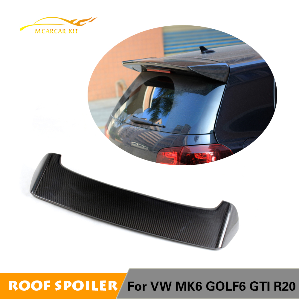 For Volkswagen VW Golf 6 VI MK6 GTI and R20 Only 2010 2011 2012 2013 Rear Roof Spoiler Window Wings Lip Carbon FiberFor Volkswagen VW Golf 6 VI MK6 GTI and R20 Only 2010 2011 2012 2013 Rear Roof Spoiler Window Wings Lip Carbon Fiber