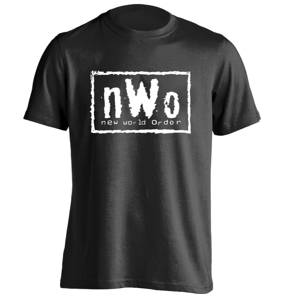 Nwo red logo new world order mens womens retro t shirt for Order custom shirts online