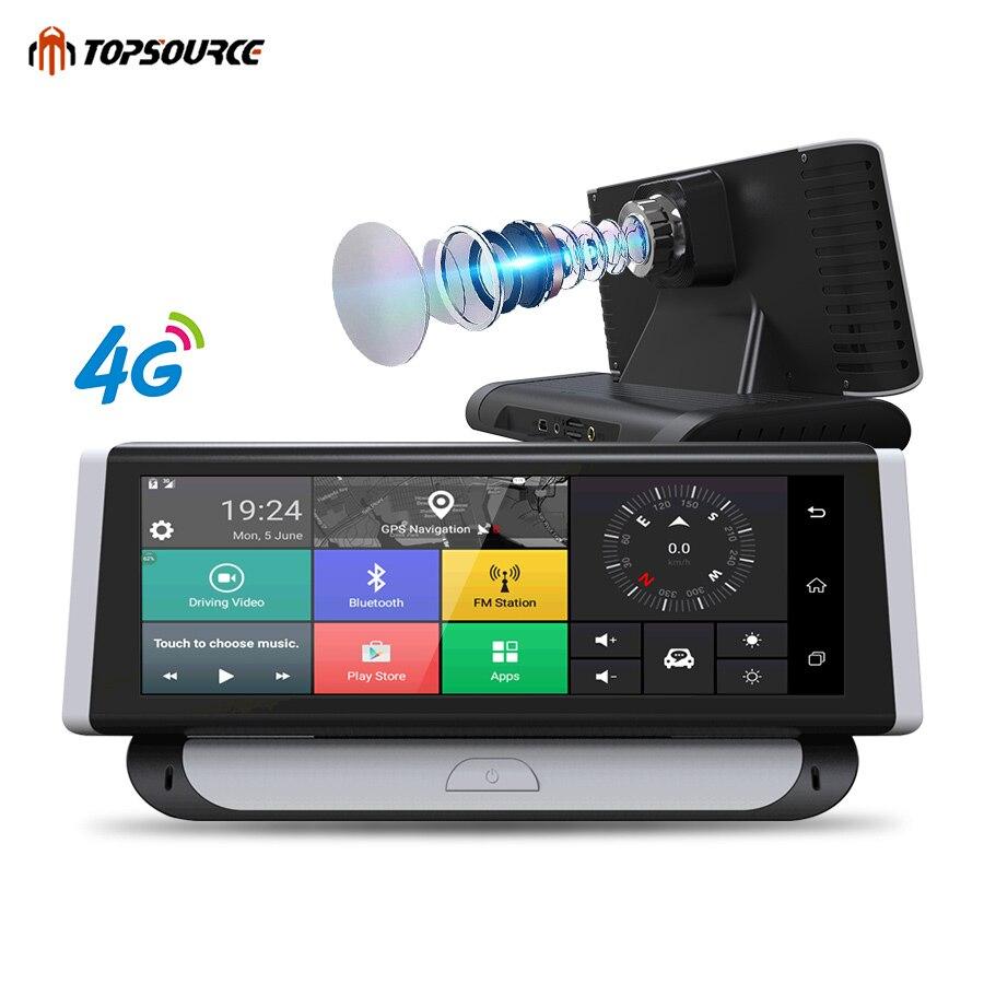TOPSOURCE Car DVR 4G ADAS GPS Navigation HD 1080P 7.84