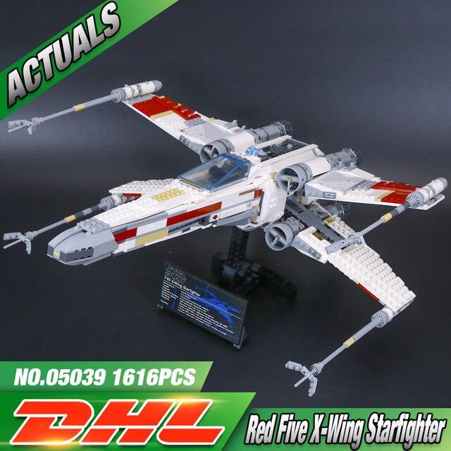 1586 unids Lepin 05039 Genuino Nueva Serie Star El x-wing Rojo Cinco Starfighter Conjunto de Bloques de Construcción Ladrillos juguetes 10240