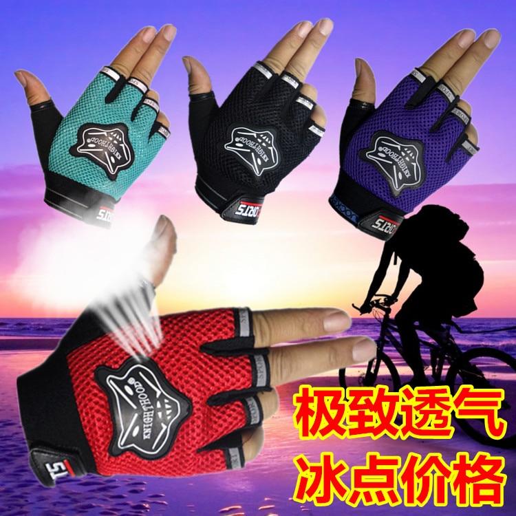 ФОТО Riding seasons half gloves Shipping men Han antiskid fitness outdoor  hip-hop wolf mountain