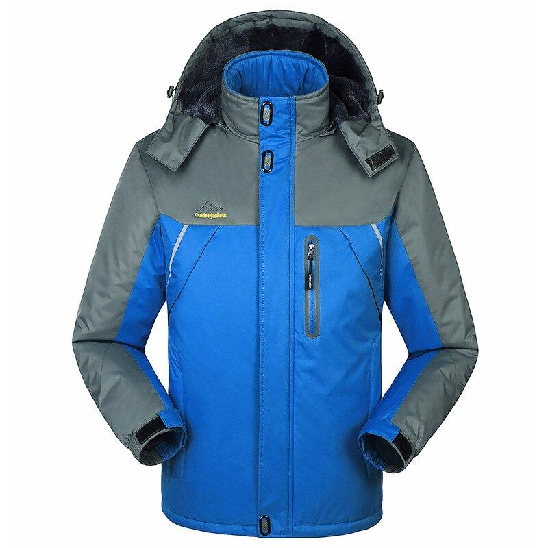 -30 C FIT Plus Thick Velvet Down & Parka Coat 6XL 7XL 8XL 9XL 2019 Warm Winter Jacket Waterproof Windproof Men's Windbreaker 3