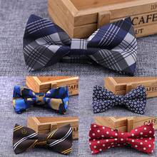 RBOCOTT Camouflage Bow Ties White And Black Plaid Bow Ties Striped & Dot Bowtie Men Business Wedding Bowknot For Party Accessory