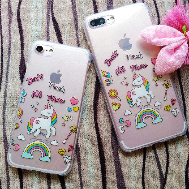 HTB19wzPRFXXXXXFXFXXq6xXFXXXY - FREE SHIPPING For iPhone 7 7Plus 6 6s Plus 5 5s 3D Rainbow Unicorn Case Horse Cute Cartoon Silicone Rubber Soft Cell Phone Cover Shell