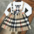 2017 summeR girls bear plaid dresses for girlslove heart pattern TUTU SKIRTS kids clothes 2-10 years brand girls dress clothing