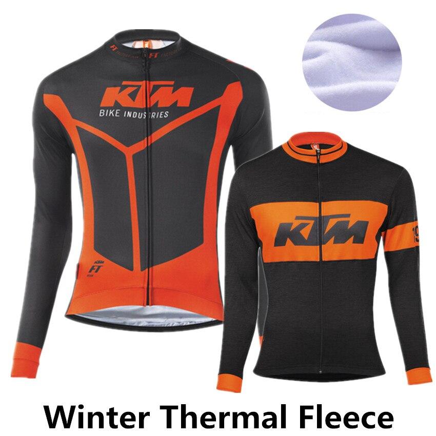 Цена за KTM 2015 зимняя одежда велоспорт руно тепловая велоспорт джерси pro bike одежда mtb ropa ciclismo зима майо ciclismo мужчины