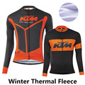 KTM 2015 winter cycling clothing fleece thermal cycling jersey pro bike clothes mtb ropa ciclismo invierno maillot ciclismo men