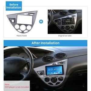 Seicane горячая Распродажа, двойная Din Автомобильная фасция, рамка, обшивка пластины для Ford Fiesta Focus Европейский 2006 LHD Набор для крепления в прибо...