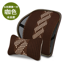 KKYSYELVA 1PCS Car Seat Back Support Lumbar supports for office home Waist Interior Accessoreis