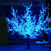 2.3 Mètres 2400 LED bleu led cherry blossom arbre de noël lumières de led arbre éclairage fabricants avec gratuite Asie