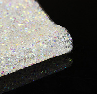 Iron On Transfer Hot Fix 3mm AB White Colors Crystals Rhinestones Beads Pad For Sewing DIY