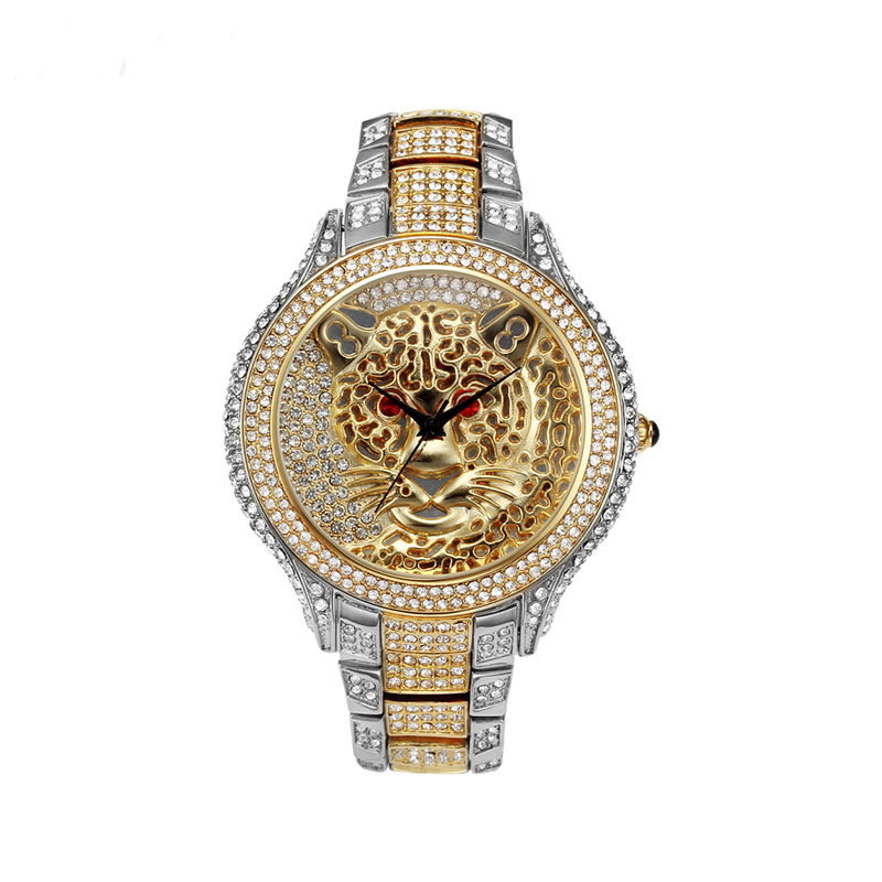 Top Brand Luxury Women Watch Silver Gold Diamond Watches Fashion Women Diamond Tiger Ladies Watch Relogio Feminino Clock