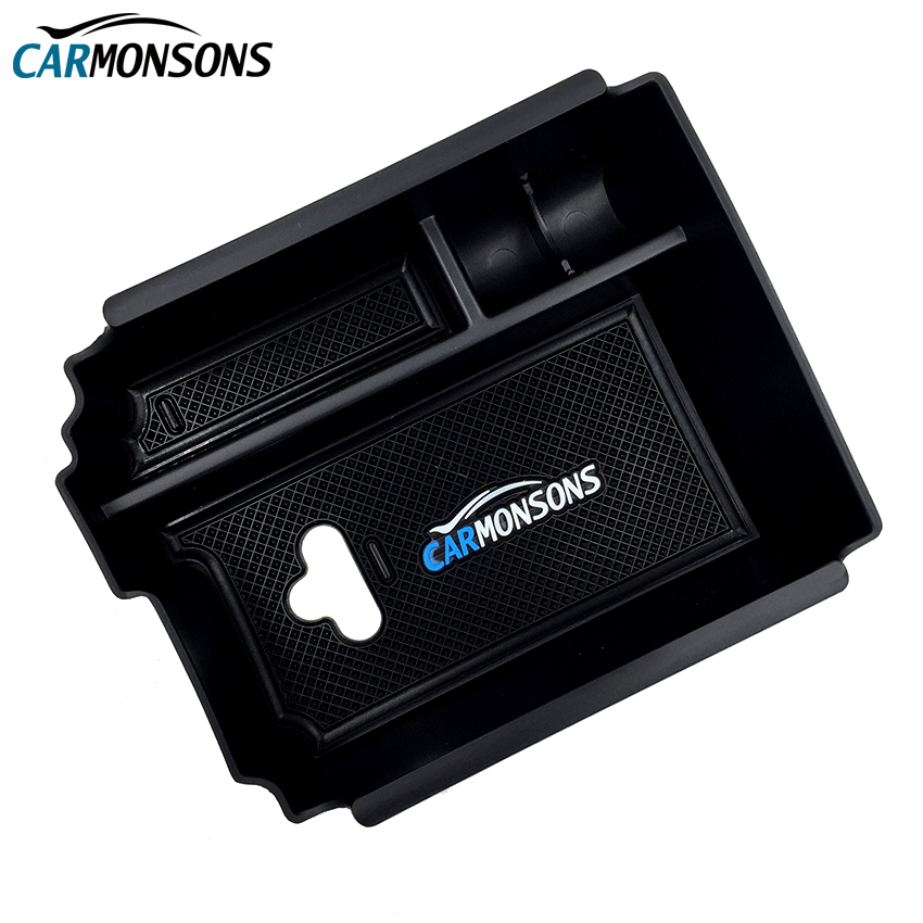 Carmonsons Console Central Armrest Storage Box Container Tray for <font><b>Infiniti</b></font> QX30 <font><b>Q30</b></font> Q30S Car Organizer <font><b>Accessories</b></font> Car Styling image