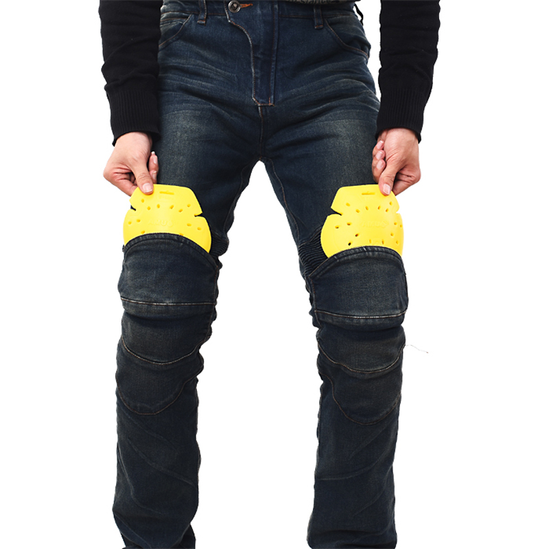 AMU High quality Men's Protective gear jeans Moto knee pad Denim Jeans Trousers Motorcycle Racing Jeans Casual Cowboys Pants