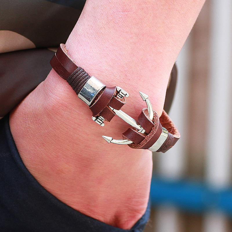 Hot selling High quality Alloy Stainless Steel Anchor Leather