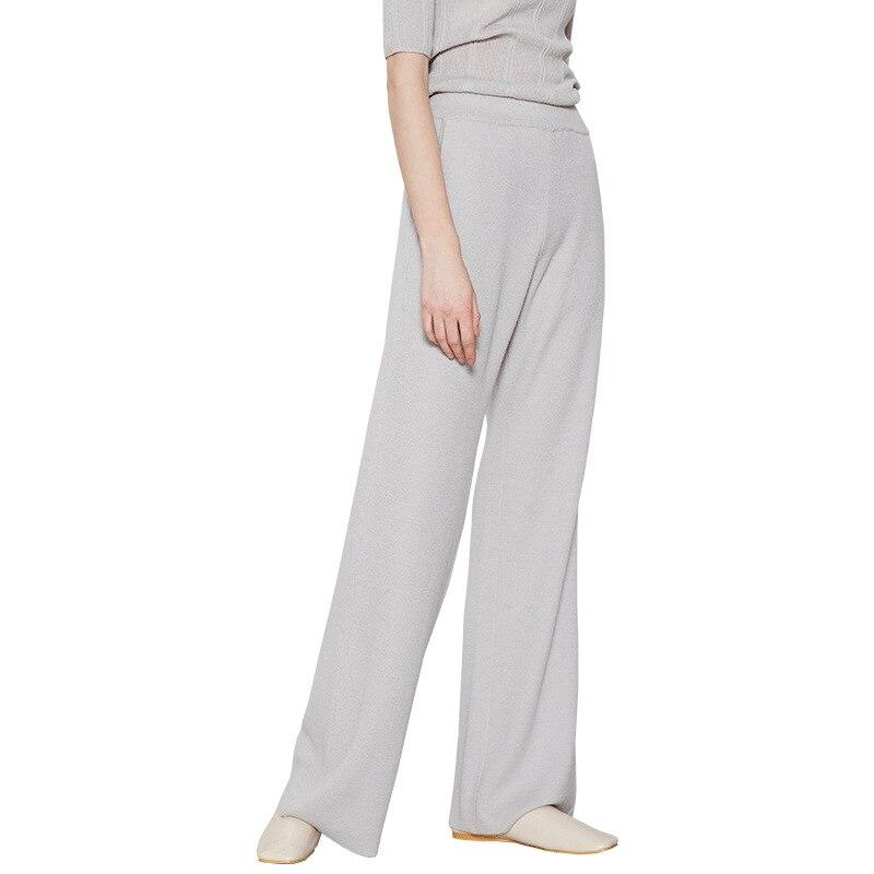 MOBTRS Trousers For Woman Solid Color Fashion Clothes Women OL Temperament Commute Lady   Wide     Leg     Pants