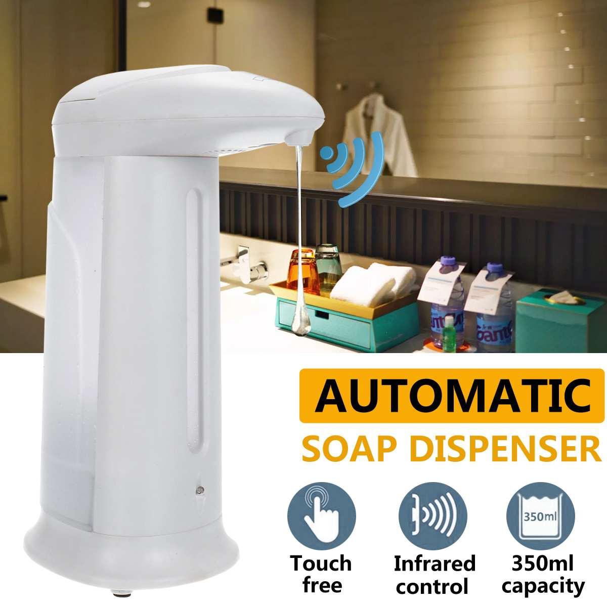 Automatic Liquid Soap Dispenser Hand Free Touchless 350ML Smart Sensor Soap Bottle Dispenser Pump Shower For Bathroom Kitchen