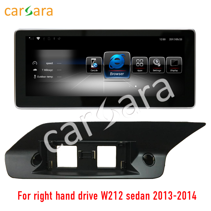 carsara Android display for Mercedes Benz E Class right hand drive sedan W212 2013-2014 10.25 touch screen GPS Navigation radio
