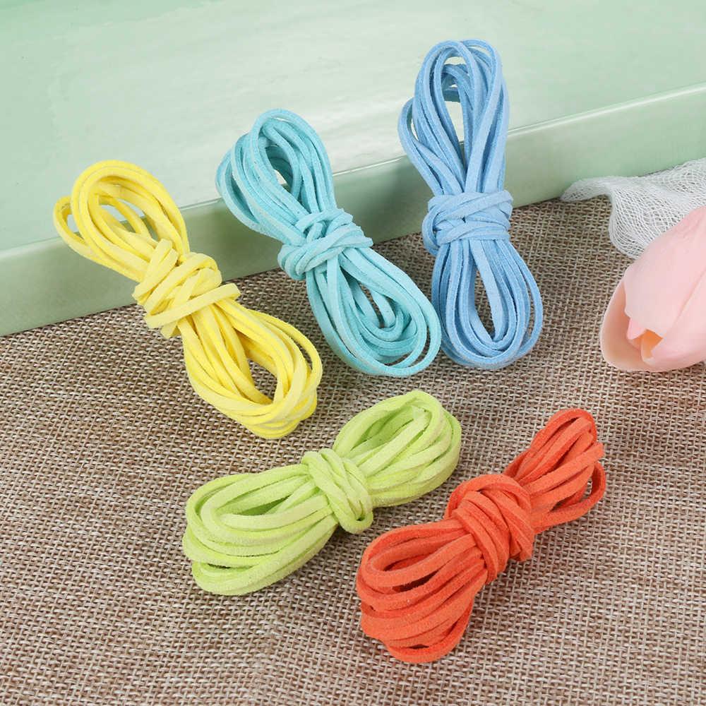 Corda de couro veludo cordão, 5 peças 1m, liso, camurça falsa, corda, diy, fazer joias, decorativa, acessórios de artesanato