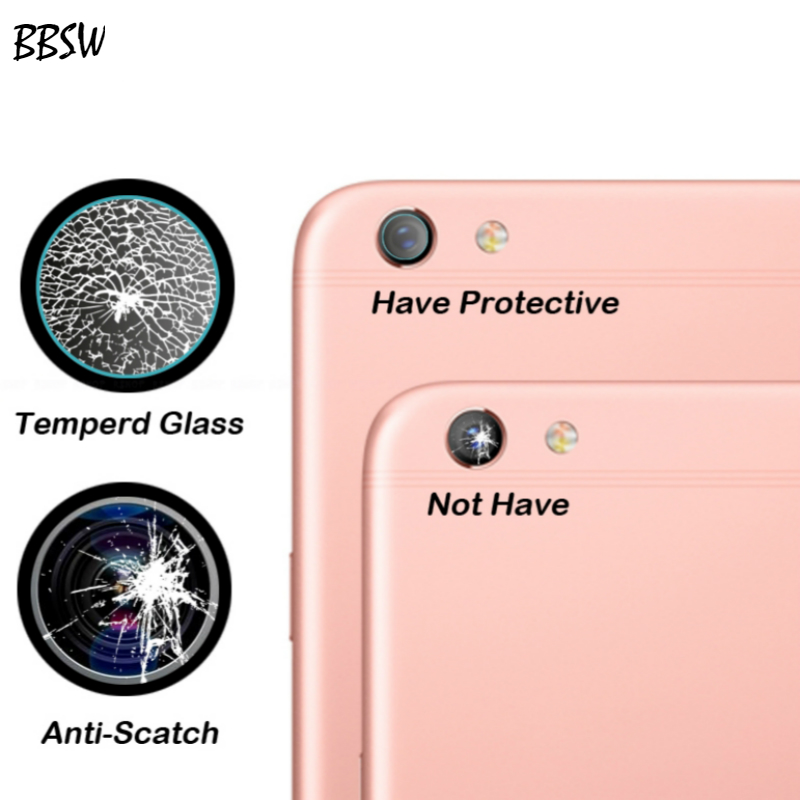BBSW 2PCS For OPPO F7 F5 Camera Lens Tempered Glass Screen Protector Film For OPPO A77 7H Clear Back Camera Lens Soft Film