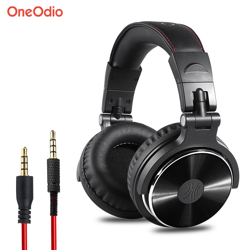 Oneodio Gaming Headset Professional Studio DJ Headphones Hifi Bass Stereo Wired 3.5mm 6.3mm Headphones For Games With Microphone