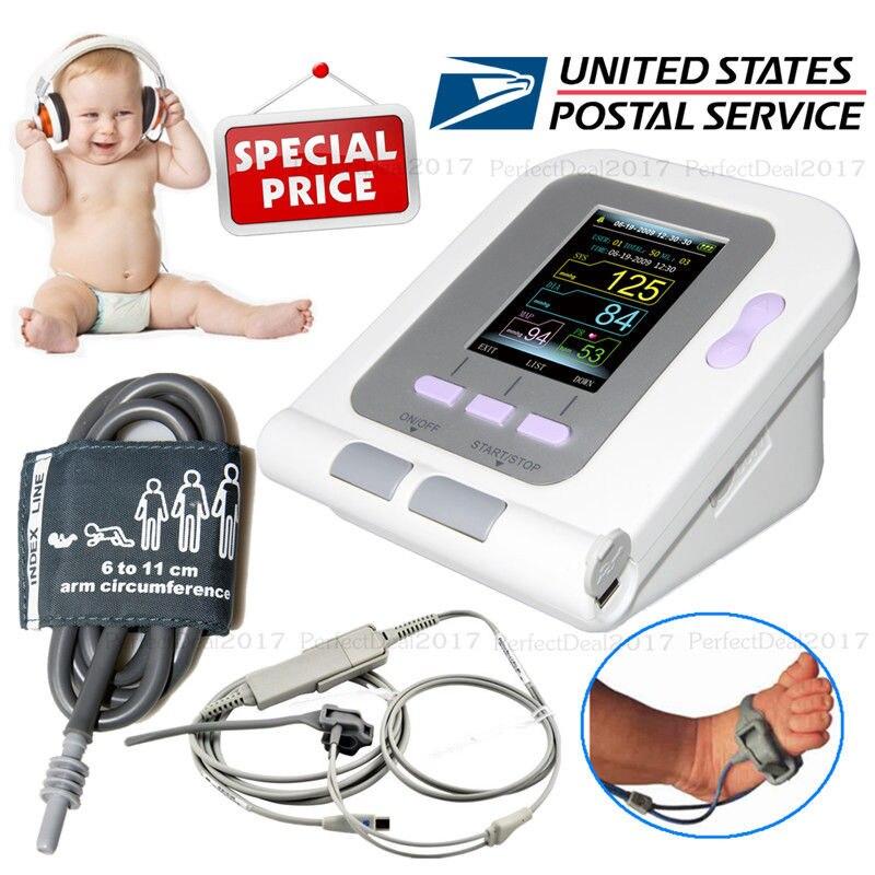 2 pic CONTEC08A Infant SpO2 Probe Blood Pressure Monitor Oximeter Digital Pulse Ox Rate Meter