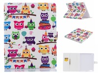 Ultra Slim Cartoon Print Cover Flip PU Leather Case For Apple ipad 2 3 4 9.7 inch Tablet With Stand / Card Slots Holder Cases