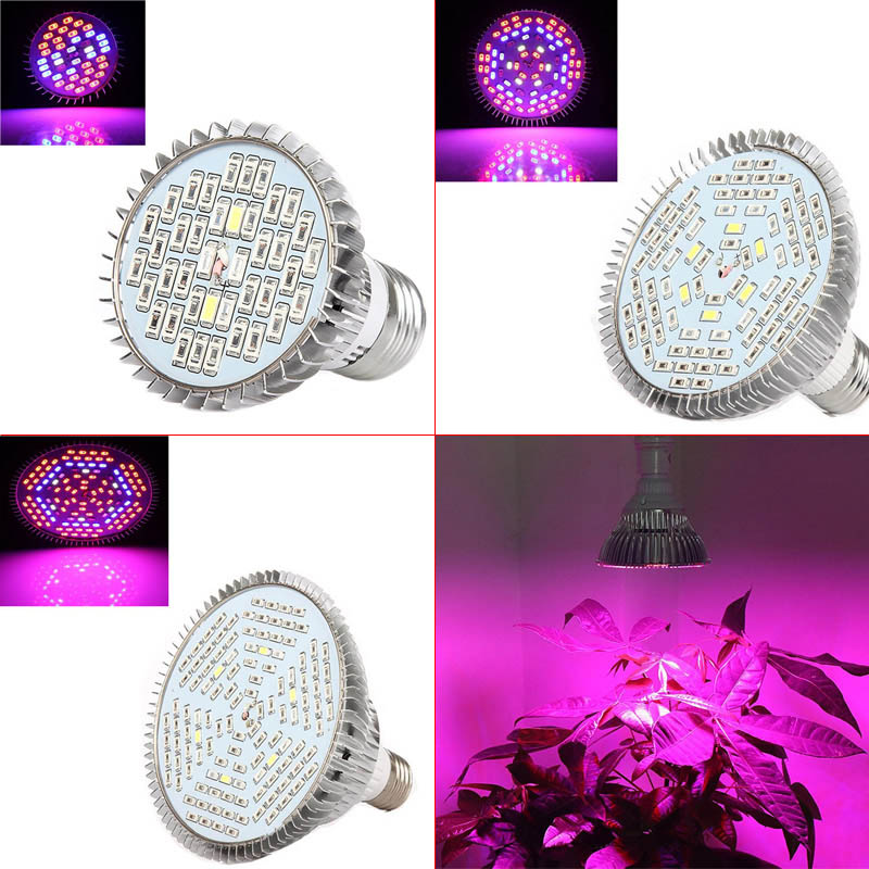 Full Spectrum 40/78/120 LED Grow Light Bulb E27 For Plants Vegetables Flower Hydroponic System Grow Tent AC85-265V Hoga CLH
