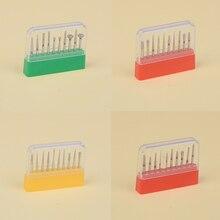 Juego de 10 unids/caja fresas dentales pulidoras brocas de diamante para pulir dientes brocas para pulir dientes herramienta pulidora Dental