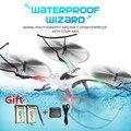 H31 jjrc rc zangão quadrocopter 6 eixos profissional pode adicionar com câmera helicóptero da bateria à prova d' água resistência vs jjrc h37