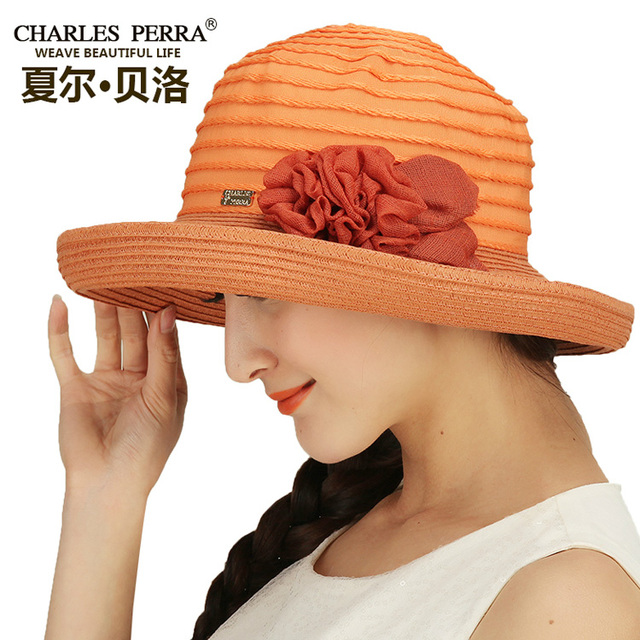 New Arrival Lady Sunbonnet Hat Female Summer Sun Cap Women Graceful Eaves Wide Brim Cap Sunscreen Beach Hat B-4866