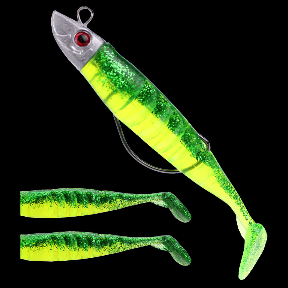 WALK FISH Jig Head Soft Fish Bait Artificial Lures Worm Hook T Tail 9cm/15g 11cm/25g Fishing Lures Pesca