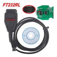 Melhor vag k + pode comandante 1.4 com ftdi ft232rl pic18f258 chip auto obd2 cabo de interface de diagnóstico para audi/skoda/seat