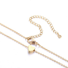 Small heart choker Necklace for women gold silver chain Smalll love NECKLACE PENDANT in collar Bohemian Chocker necklace jewelry