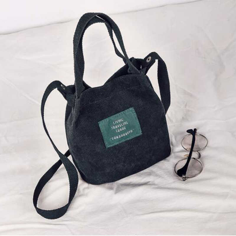 e94356bf4a0e 2018 Designer Handbags High Quality Women Bag Vintage Corduroy Shoulder  Bags New Corduroy Bucket Handbags Luxury