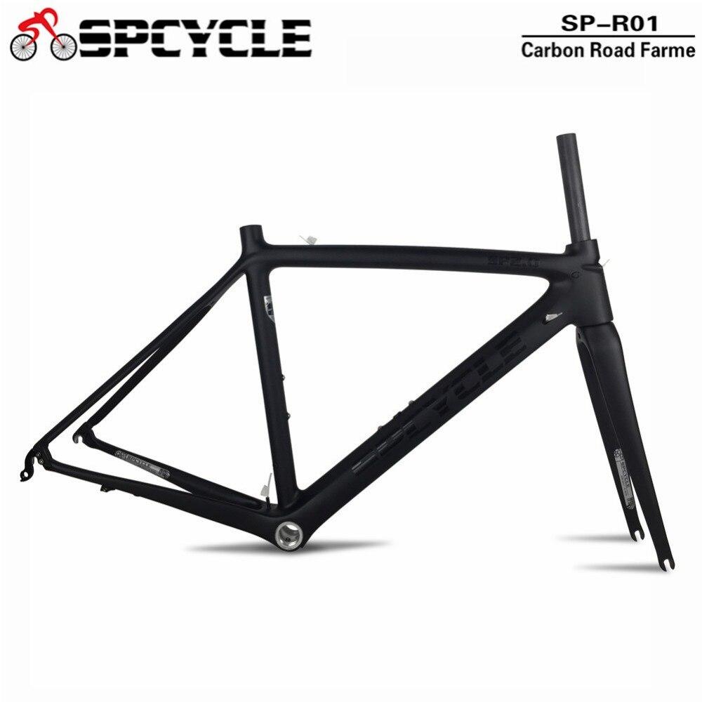 Spcycle UD Mat Plein Carbone Vélo De Route Cadre 2019 Nouveau Racing Route Vélo Carbone de Cadres Avec Casque Pince Taille 50 /53/55 cm