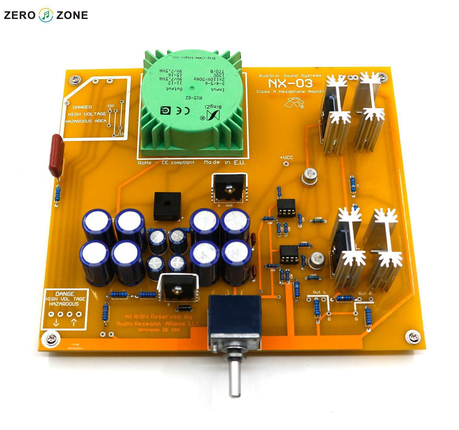 Gzlozone Nx 03 Headphone Amplifier Kit Base On Italy Rudistor Nx03 How To Build Class A Amp Diy In Circuits From Consumer Electronics Alibaba Group