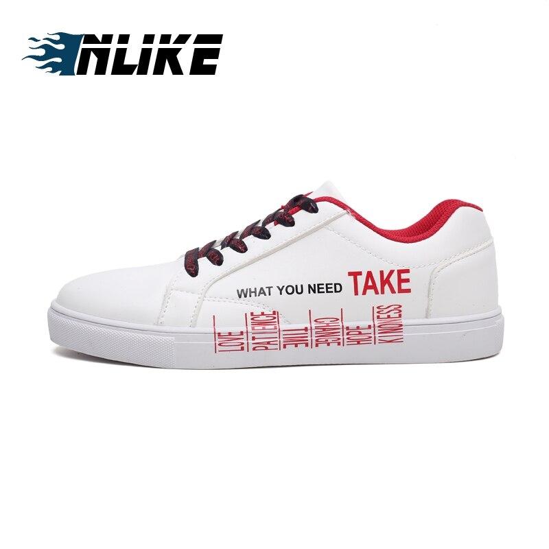 W gold red w Hombre w Hommes De Respirant Zapatos Tableau Inlike Tendance Nouveau Mode Blanc Sneakers black Chaussures Casual Étudiants Toile WEe2Y9bDHI