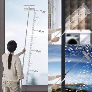 Image 3 - מנקה חלון זכוכית ניקוי מברשת כלי עם 180 מגב ראש הארכת מוט מיקרופייבר בד עבור מקורה וחיצוני Windows