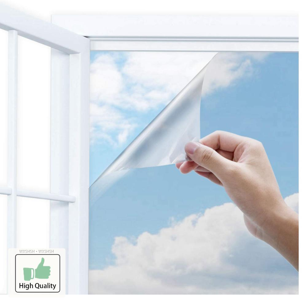 Image 2 - 40/50/60/70/80/90x500 Cm One Way Mirror Window Film,Vinyl Self adhesive Reflective Solar film Privacy Window Tint for Home-in Decorative Films from Home & Garden